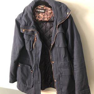 Steve Madden baby blue utility jacket size medium